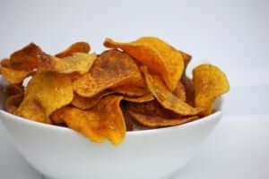 Crispy Sour Cream & Onion Chips Made from Butternut Squash