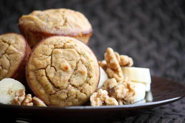 Grain-Free Spiced Banana Walnut Muffins {5 Minute Prep}