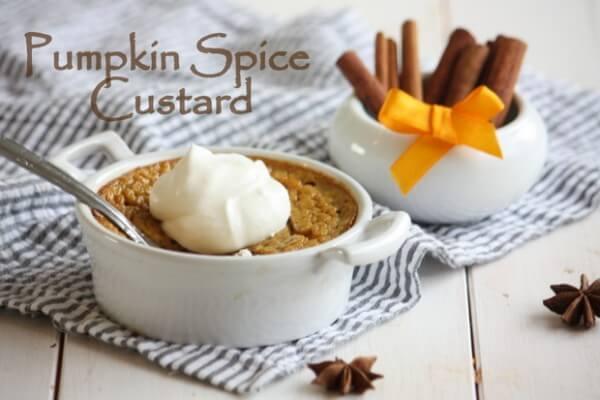 Pumpkin Spice Custard With Marrow Infusion
