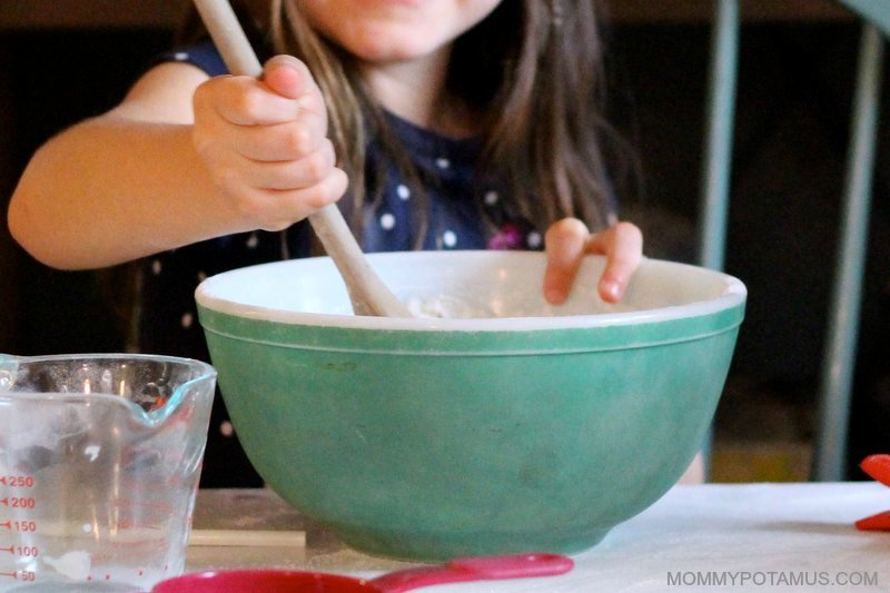 Salt dough ornament recipe - adding water