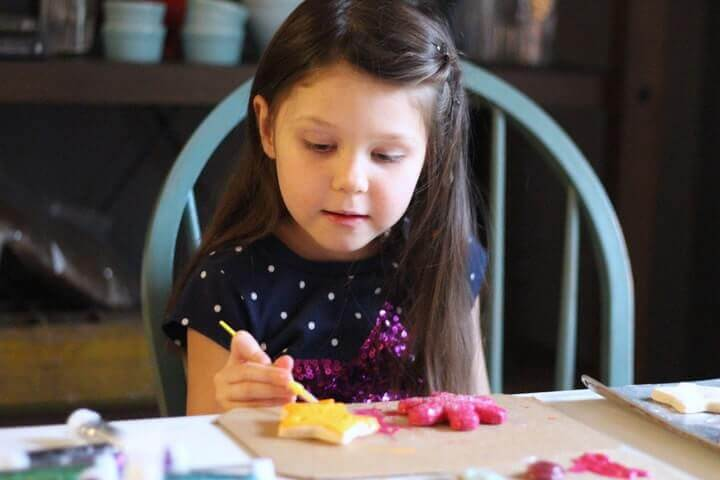 Salt dough ornament recipe - painting the ornaments