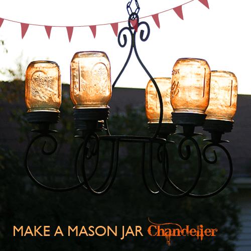 Mason Jar Chandelier 5