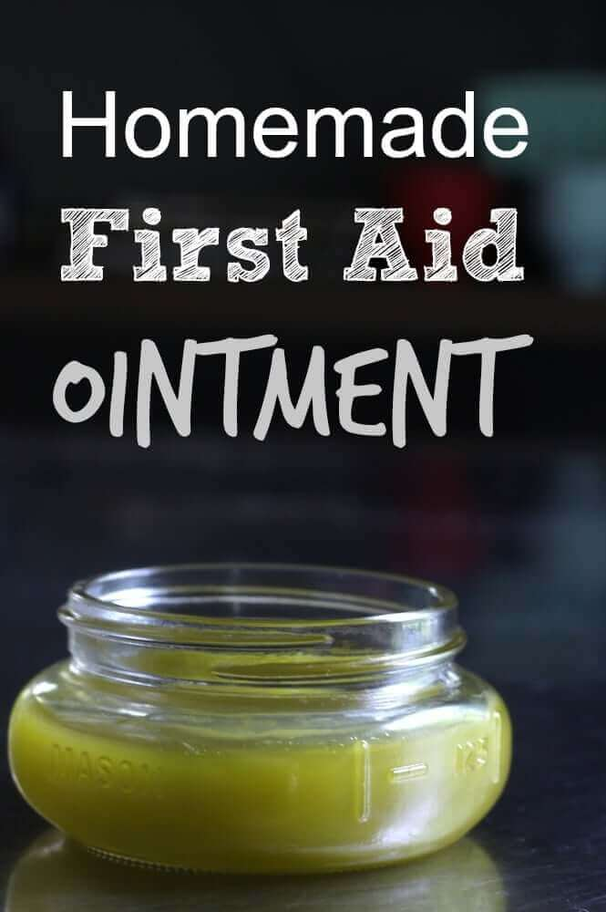 "First aid ointment made with a common backyard ""weed."" My kids are going to love this."
