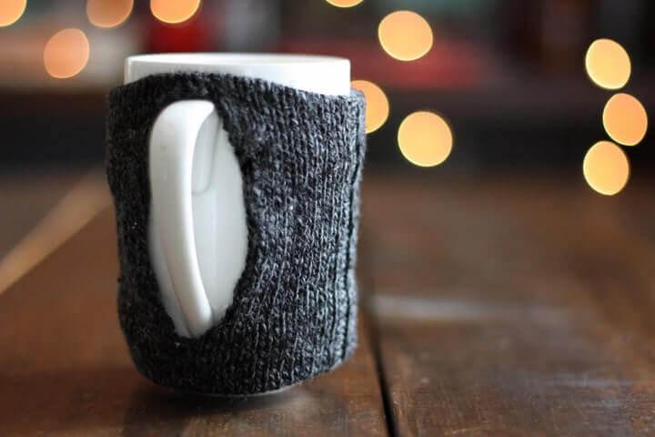 How to make a coffee mug sock cozy