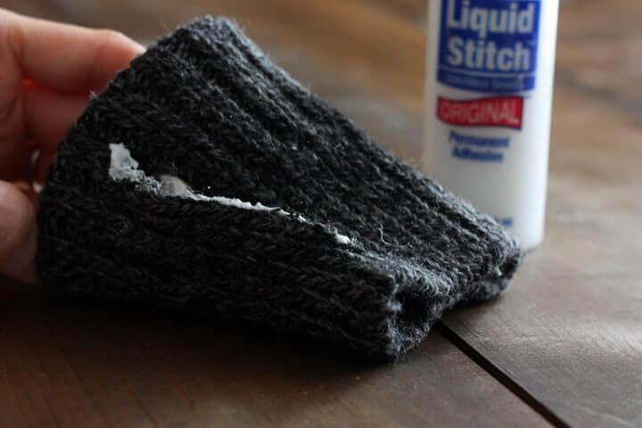 how to make sock coffee mug cozy