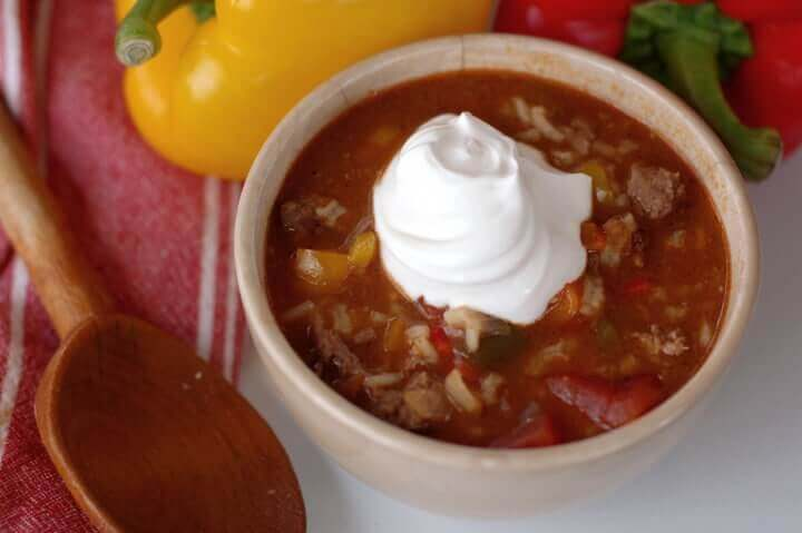 how-to-make-stuffed-pepper-soup