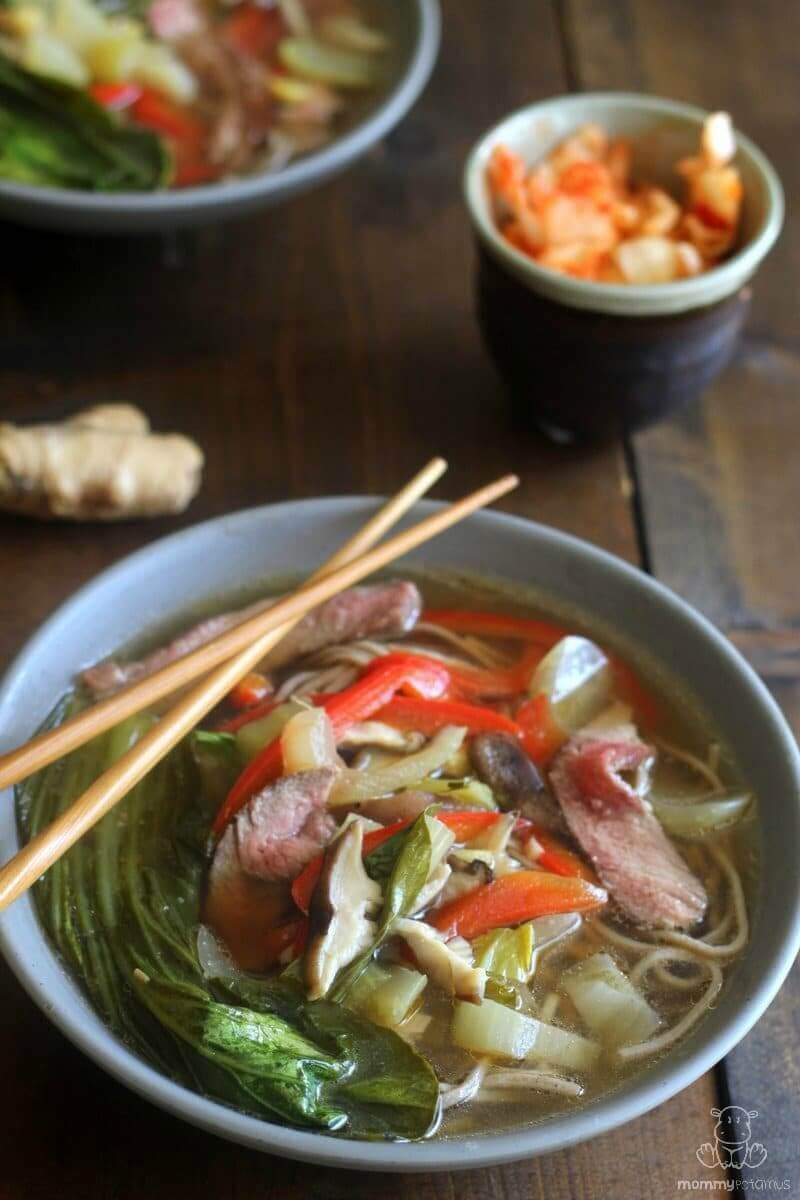 Asian beef noodle soup with a #paleo option #realfood