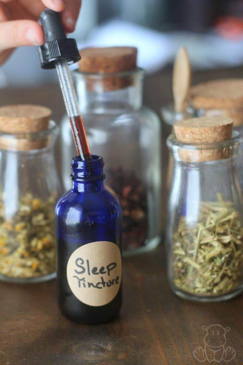 Sleep Tincture Recipe - Uses calming herbs that are generally considered beneficial for adults and children, which I love because it can be used by our whole family.