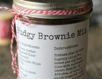 Mason Jar Brownie Mix (Gluten-Free)