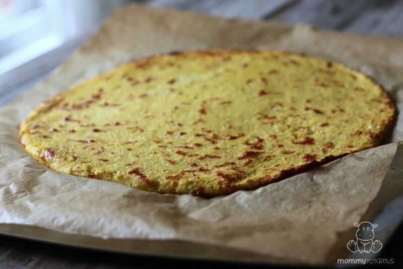 Easy cauliflower pizza crust