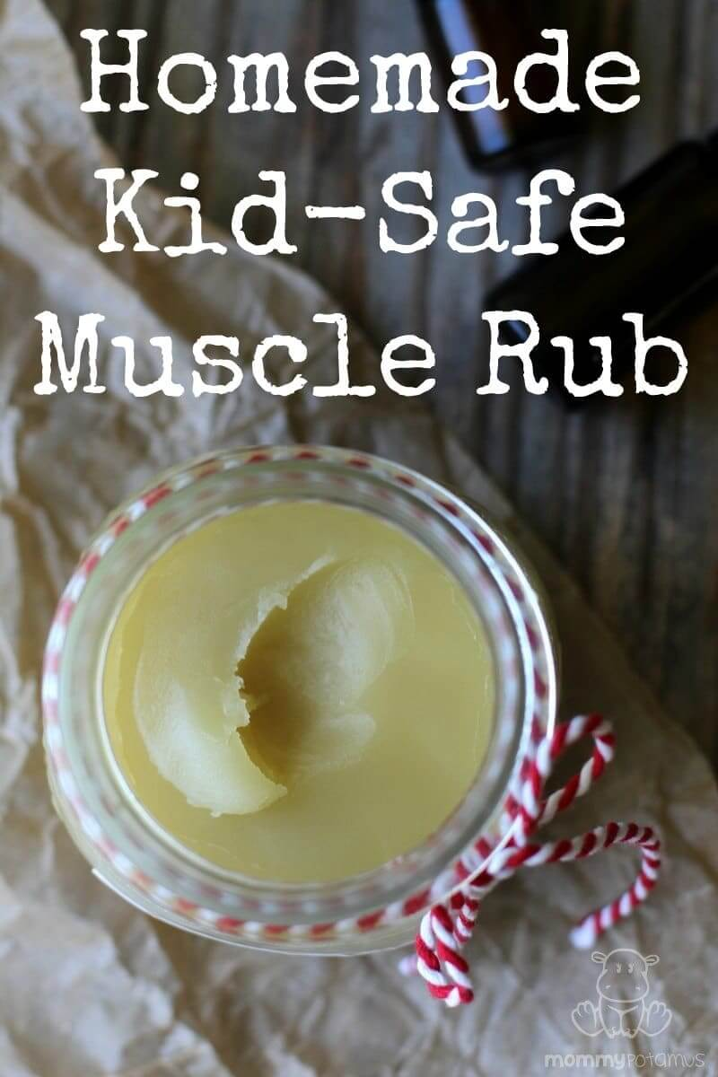 Homemade Muscle Rub for Kids and Pregnant/Nursing Moms - Most muscle rubs contain ingredients that are unsafe for pregnant/nursing mamas and kids. That's why I created this easy recipe - it relaxes and soothes tense, tired and achy muscles with mama/kid friendly ingredients. But don't think that just because it's safe that it's wimpy, because it's totally not. I hope you love it as much as I do!