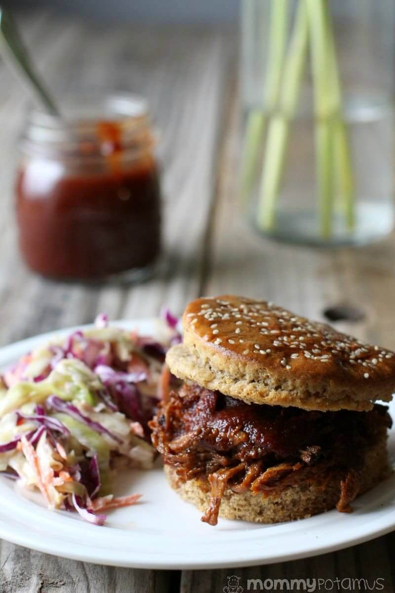 Slow Cooker Pulled Pork Recipe - This super easy Texas-style pulled pork can be made in a slow cooker or Instant Pot - instructions for both in the post!.