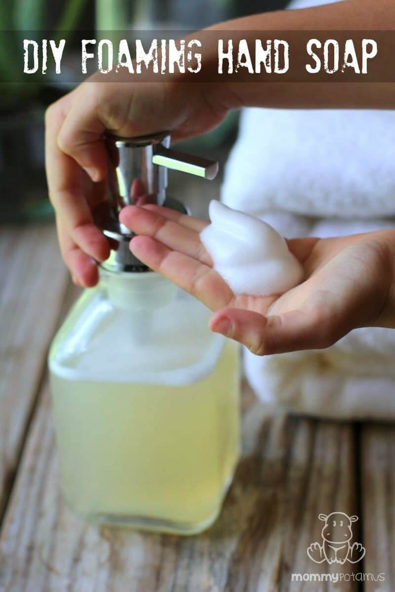 DIY Foaming Hand Soap - Unlike most hand soaps that contain hormone disrupting chemicals, this DIY foaming hand soap is made with just two simple, wholesome ingredients. (Three if you decide to add an essential oil for scent.)