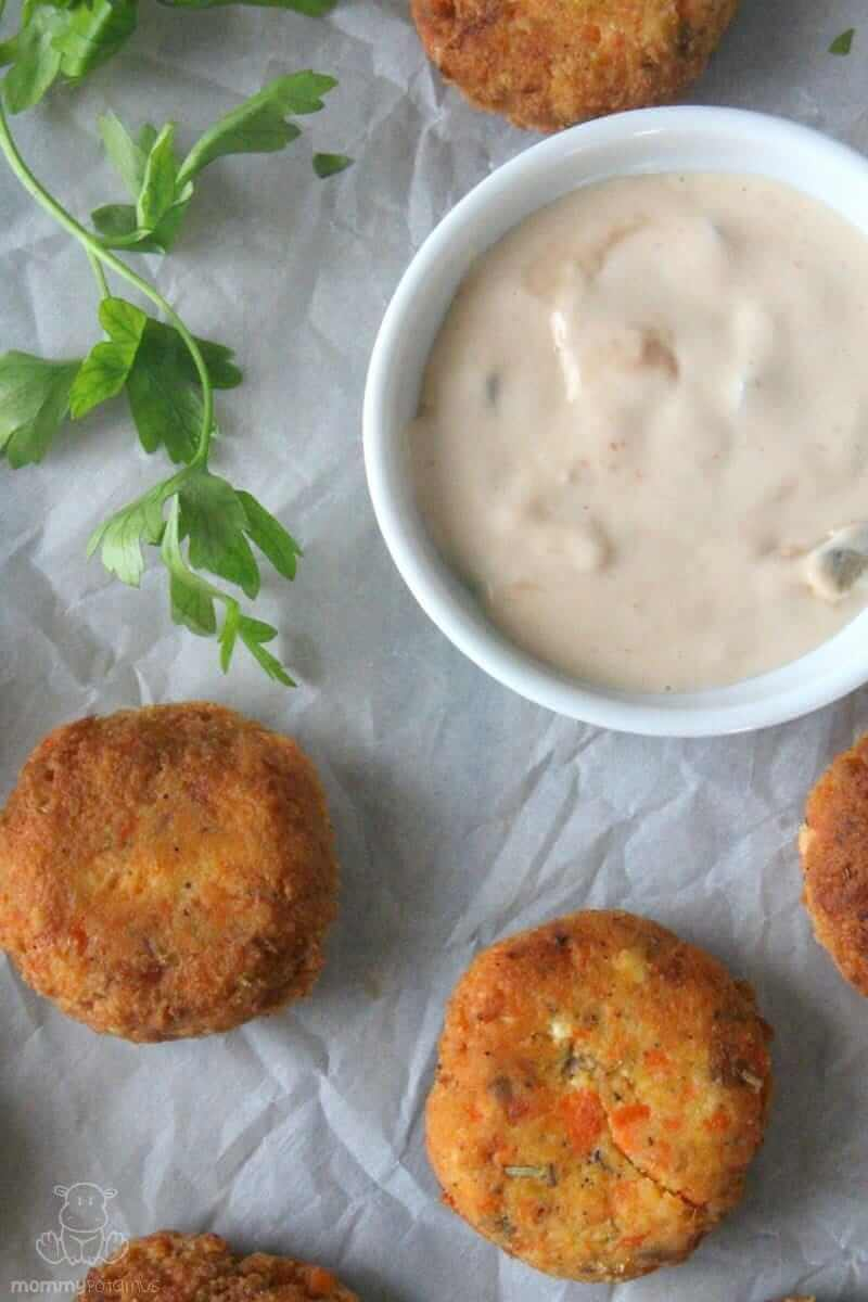Golden on the outside and moist and flavorful inside, these salmon patties are loaded with omega-3's, selenium, and the powerful antioxidant astaxanthin.