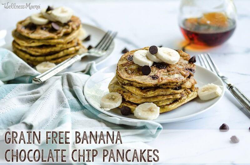banana chocolate chip pancakes recipe