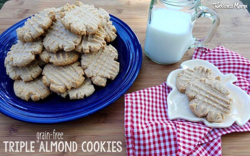 triple almond cookies